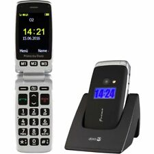 Doro Primo 413 Elderly Flip Dual Display Unlocked Mobile Phone Desktop Charger