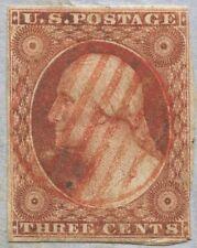 #10 3c O.B., W/ SON RED BAR GRID, ON SEPT, 1851 FOLDED LETTER. VA CDS  pb10 87