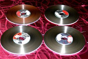 4 Tonbänder / ca. 25,5cm / auf Metallbobby