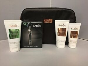 BABOR Gift Set Bag, Active Night Fluid, Body Cream, Hand Cream, Shower Gel