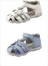 Baby Girl's 3D Flowers Sandals Shoes Two-Tone Color White Or Blue Toddler size