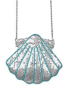 Muschel Handtasche zum Meerjungfrau Nixe Fisch Kostüm Pailletten Accessoire