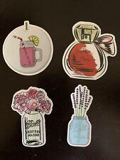 Perfume & Mason Jar Sticker Set (4) Laptop, Phone Case, Boards