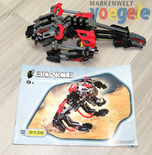 Lego Bionicle Technic Set 8538 muaka Rahi INCOMPLETA Rojo técnico