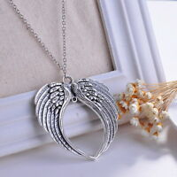 Unisex Goth Retro Angel Wings Pendant Chain Necklace Fashion Jewelry Gift Party