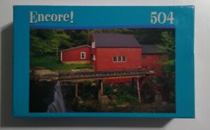 Encore Winter Barn Scene Puzzle - Factory Sealed - 504 Pieces Free US Shipping