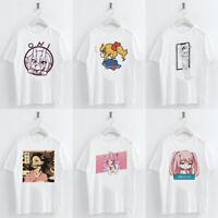 Vintage Harajuku Anime Girl Graphic Tops Casual Funny Female T Shirts Lady Tee