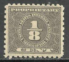us revenue proprietary tax stamp scott rb44 - 1/8 cent issue - mnh