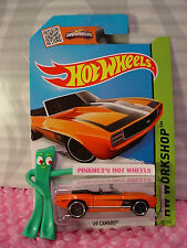 Case N/P 2015 i Hot Wheels '69 Chevy CAMARO Convertible #241☆Orange☆Then and Now