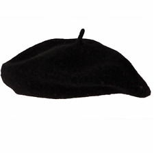 Mens Black French Beret Hat Cap Halloween National Fancy Dress Accessory