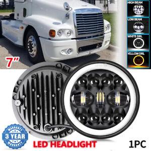 for Freightliner Coronado 7'' Inch LED Headlight Halo Projector Hi Lo Beam DRL