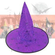 Niños adultos Sombrero de Bruja Disfraz Halloween Vestido De Fantasía Accesorios Hen Fiesta Naranja