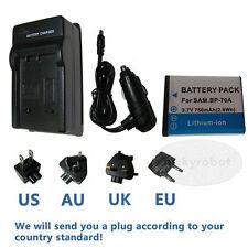 BP-70A Battery & Regular Charger for Samsung ES73 ES74 ES75 ES80 MV800 PL20 ST30