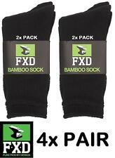 NEW 4 X FXD BAMBOO WORK SOCKS FOOTWEAR SIZE 7-11 UK/AUS