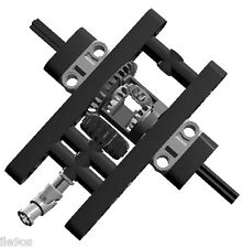 Lego BLACK Differential Assembly (technic,car,truck,gear,universal,joint,crawle)