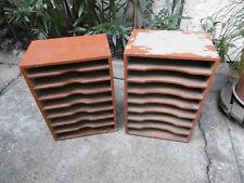 Lot de 2 Casiers de rangement en bois massif à repeindre, 8 étagères / meuble