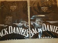 TWO NEW 'JACK DANIELS' CREW NECK T SHIRTS. SIZE SMALL.