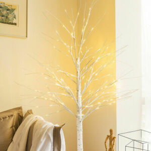 White Adjustable Branches Twig Tree 60CM Christmas LED Lights Birch Decoration