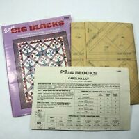 Easy Big Blocks CAROLINA LILY Advanced McCalls Tissue Paper Foundations Uncut