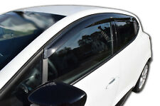 Klebende SCOUTT Windabweiser für Renault Clio 4 Schrägheck  ab 2013 4tlg dunkel