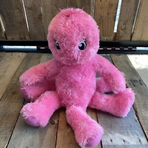"Build A Bear Pink Octopus 17"" Tall Sparkle Hands Feet BAB Plush Stuffed Animal"