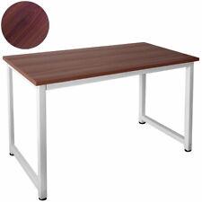 Tisch Computertisch PC Schreibtisch Bürotisch 120 x 60 cm Teak Weiß Kingpower