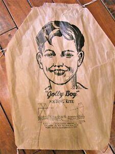 VTG JOLLY BOY PAPER KITE TOY~HEXAGONAL~JC AYLING CO SPRINGFIELD ILL~1911-1940