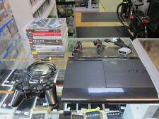 PS3 Konsole Super Slim 12 GB Cech-4004A  schwarz  +10 Spiele
