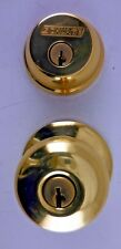 Schlage Plymouth Entry Double Cylinder Deadbolt Bright Brass FB52NVPLY505 #77x