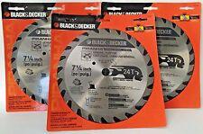 Blackdecker circular saw blade power saw blades for sale ebay blackdecker piranha 7 14 industrial carbide tipped 24t circular saw blade greentooth Gallery