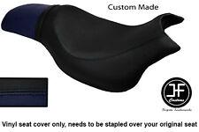 Vinilo Negro y Azul Marino Personalizado Para Hyosung GV 650 Aquila 04-11 Doble Cubierta de asiento
