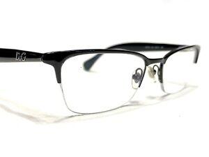 Dolce & Gabbana DD5113 064 Womens Black Cat's Half Rim Rx Eyeglasses Frames 52
