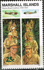 Marshall Islands WW2 in 1940-45 Burma Road Conflict MNH stamp
