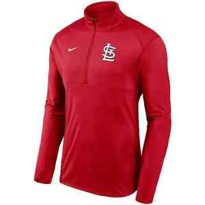 New 2021 St. Louis Cardinals Nike Team Logo Element Performance Half-Zip Jacket