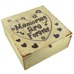 Wooden Hearts Memory Box Keepsake Chest Memories Are Forever Hearts