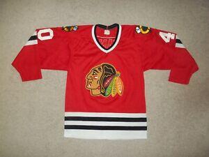 VTG Rare 1980's CCM sewn Darren Pang Chicago Blackhawks Red #40 Men P/S Jersey