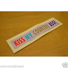 Americana 'Kiss My Country' Car Caravan Sticker Decal Graphic - SINGLE