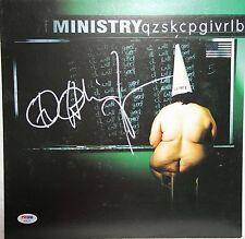 "AL JOURGENSEN Signed MINISTRY ""Dark Side Of The Spoon"" Album Poster Flat PSA/DNA"