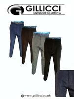 MENS WARM HEAVY FORMAL WORK CASUAL PLAIN CORD CORDUROY TROUSERS JEANS WITH BELT