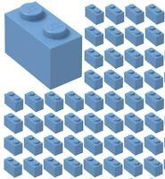 Lego Lot of 5 New Medium Blue Bricks 1 x 2 Dot Pieces Parts