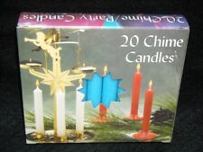 "Angel Chime Party Candles, 1/2"" Diameter x 4"" Tall, 20 in New Box, Light Blue"