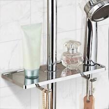 Multifunctional Bathroom Shower Pole Shelf Shampoo Lotion Organiser Tray Holder