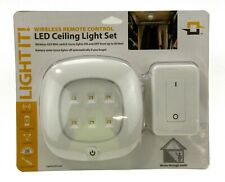 LED Ceiling Light Set Wireless Remote Control Dimmable Programmable Linkable NIB