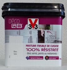 Peinture meuble de cuisine V33 100% résistant DécoLab 750ml et 2L