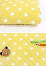 Middle stars Cotton Ready quilted Fabric By half Yard Pre-quilted padded fQ213<