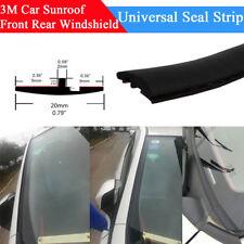 3M Car Windshield Sunroof Rear Triangular Edge Weatherstrip Rubber Seal Strip