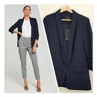 [ PORTMANS ] Womens Navy Mi Amour Blazer Jacket NEW + TAGS  | Size AU 10