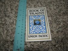 Vintage  Union Pacific System Book of Trains Times tables Chicago to California