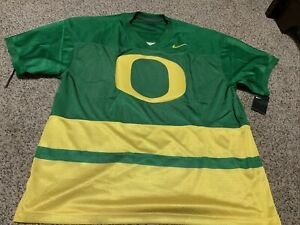 "Nike Oregon Ducks Throwback Jersey 'O"" Green/Yellow Men's Size: 2XL NWT"