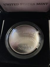 2014 national baseball hall of fame silver dollar box and COA
